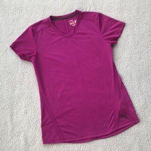 PUMA Women's V-Neck Top, Size Large